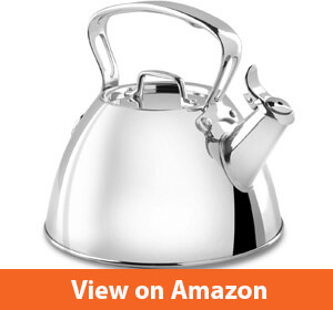 All-Clad E86199 Stainless Steel Specialty Cookware Tea Kettle – Budget friendly electric coffee kettle