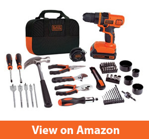 BLACK+DECKER 20V MAX Drill & Home Tool Kit – Best tool set for a new homeowner