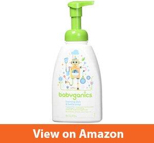 Babyganics Foaming Dish and Bottle Soap – Best dishwashing liquid for baby bottles