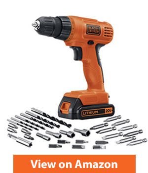 Black & Decker LD120VA 20-Volt MAX Lithium-Ion Drill Driver Kit