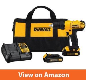 Dewalt DCD771C2 20V MAX Cordless Lithium-Ion 12 inch Compact Drill Driver Kit