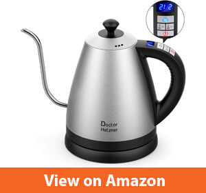 Electric Kettle with Variable Temperature by Doctor Hetzner – Best stainless-steel electric kettle