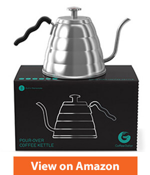 Gooseneck Pour Over Coffee Kettle - Built-in Thermometer