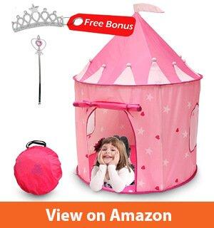 Kiddey Princess Castle Play Tent (Pink) – Super Cute Princess Play House