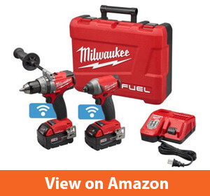 Milwaukee 2795-22 Fuel 18-Volt Lithium-Ion Brushless Cordless Hammer DrillImpact Driver Combo Kit