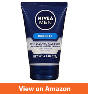 Nivea for Men Deep Cleaning Face Scrub, 4.4-Oz. Tubes (Pack of 4)