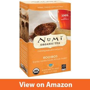 Numi Organic Tea Rooibos, (Pack of 3 Boxes) 18 Bags Per Box, Organic Rooibos Tea in Non-GMO Biodegradable Tea Bags (Packaging May Vary), Caffeine Free, Premium
