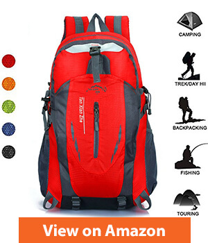 Outdoor 40 Liter Hiking Backpack-Water Resistant & Lightweight Backpack