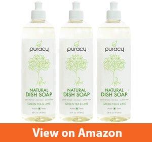 Puracy Natural Liquid Dish Soap – Best non-drying hand soap