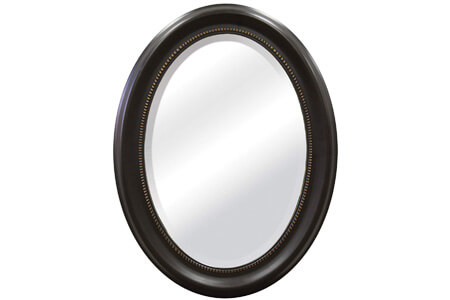 MCS Beaded Oval Wall Mirror