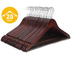 JS HANGER Multifunctional High-Grade Solid Wooden Suit Hangers-Premium Wooden Hangers