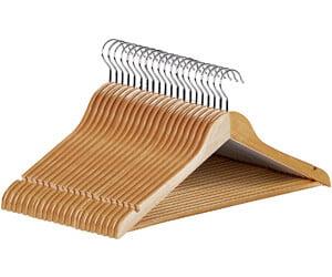Utopia Home Premium Wooden Hangers