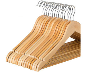 Zober Solid Wood Suit Hangers