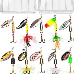 10pcs Fishing Lure Spinnerbait